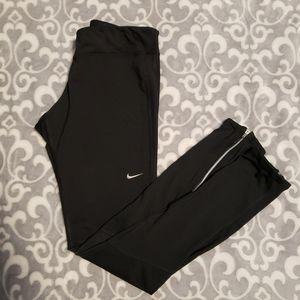 Nike Dri-fit long black running leggings, small
